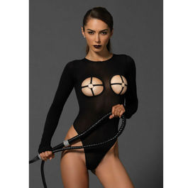 LEG AVENUE TEDDY WITH ORING CUPS NEGRO