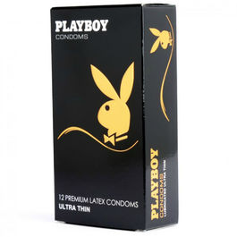 PLAYBOY ULTRA FINO CONDON TRANSPARENTE 12 UDS 54MM